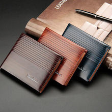 Men's leather brand luxury wallet short men's