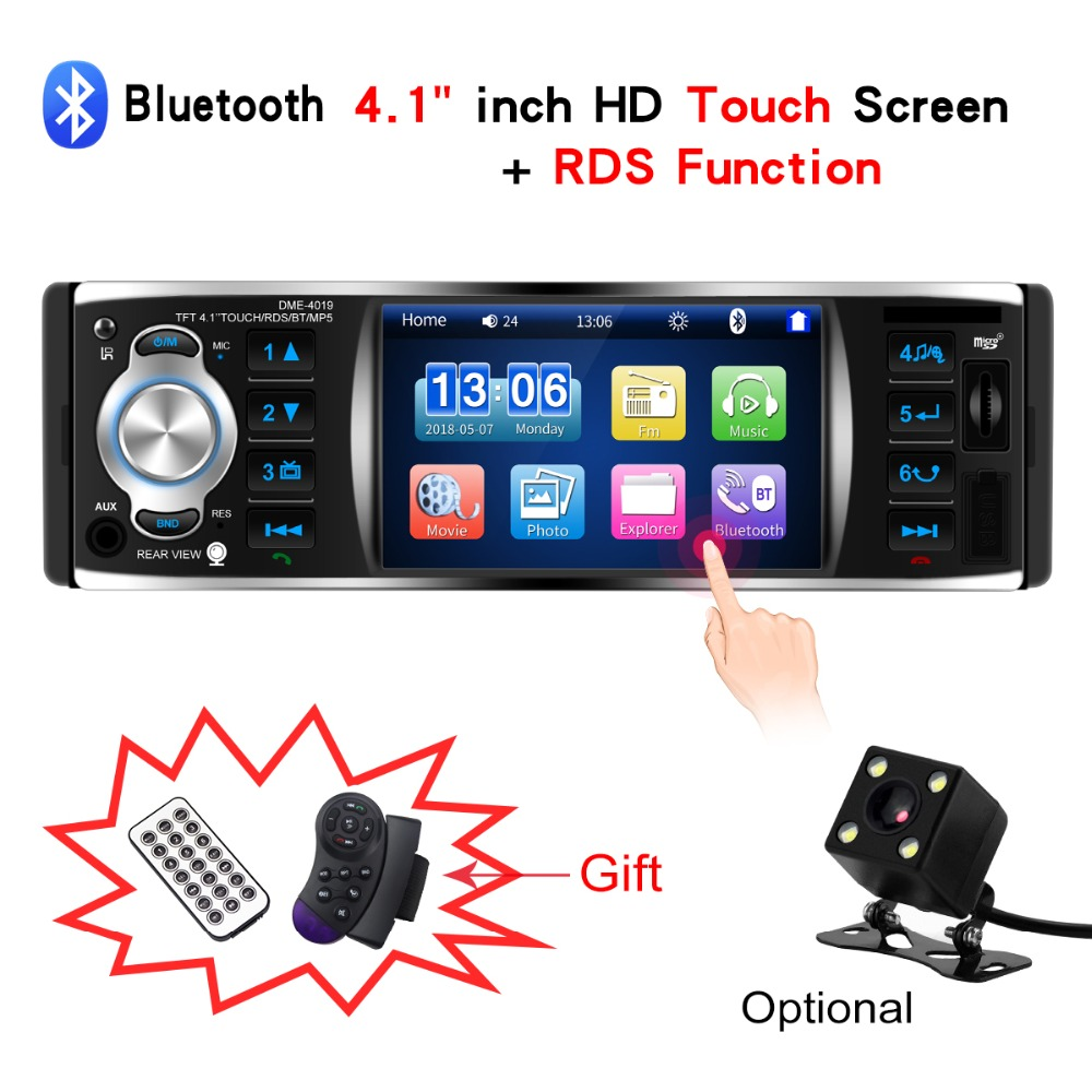 Autoradio Radio Car 1 Din Multimedia Car Touch Screen Auto Audio Mirror Link RDS Stereo Bluetooth Rear View Camera Video PlayerAutoradio Radio Car 1 Din Multimedia Car Touch Screen Auto Audio Mirror Link RDS Stereo Bluetooth Rear View Camera Video Player