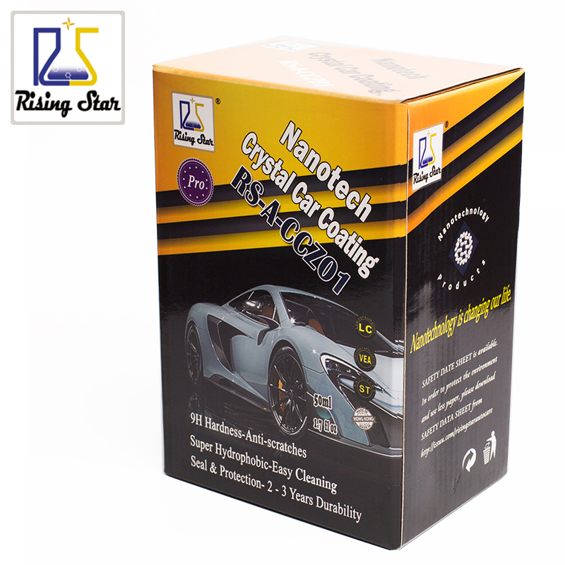 Rising Star RS A CCZ01 Liquid Glass Nano Ceramic Car Care Coating Hydrophobic Crystal Car Coating 50ml Kit for professionals