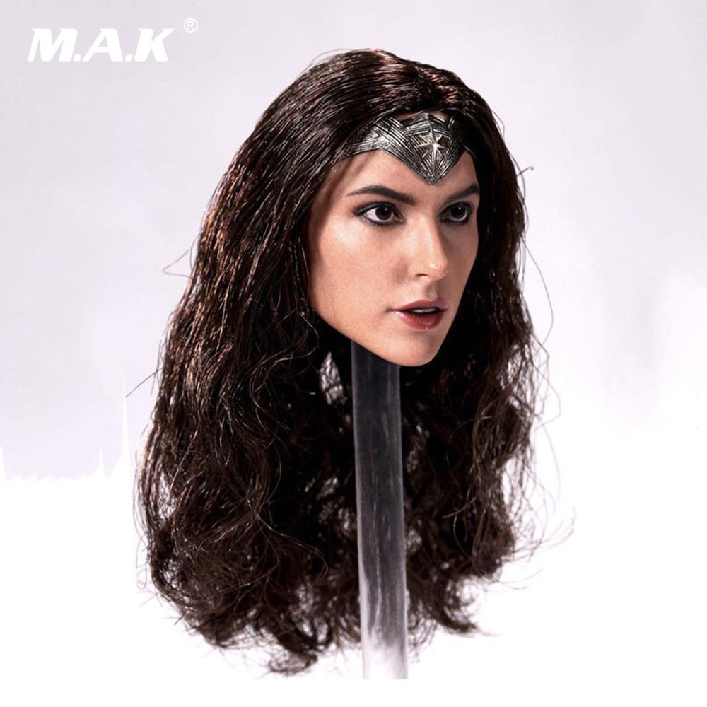 1/6 Wonder woman Batman vs superman Gal Gadot head Sculpt for 12 Inches Female Bodies Figures Dolls 1 6 scale the game of death bruce lee head sculpt and kungfu clothes for 12 inches figures bodies