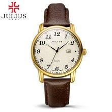 2016 Meilleur hot bracelet en cuir montres femmes robe calendrier mode casual quartz montre de luxe bande De Luxe marque Julius 508 horloges