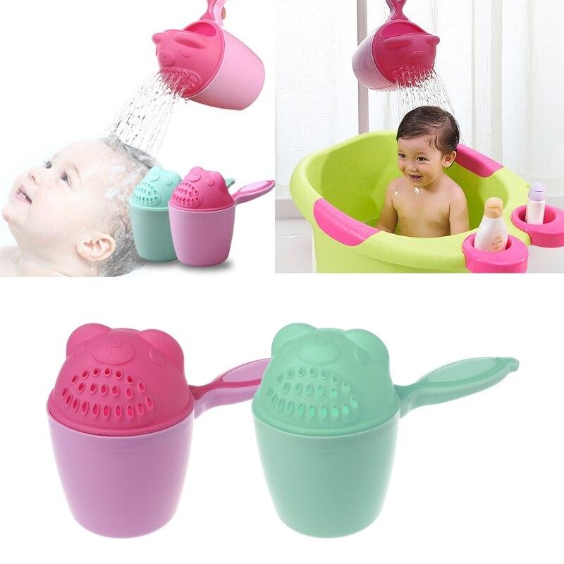 Baby Bath Cap Kids Washing Hair Shampoo Cartoon Cup Children