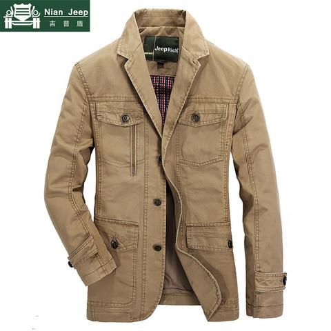 Plus Size 5XL Military Style Men Blazer Spring Autumn Cotton Casual Blazer Masculino Multi-pocket Mens Suit Jacket Blazers homme Pakistan
