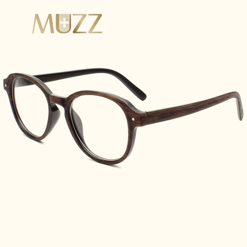 MUZZ Imitation wood Frames Glasses Optical Glasses Men Women Clear ...