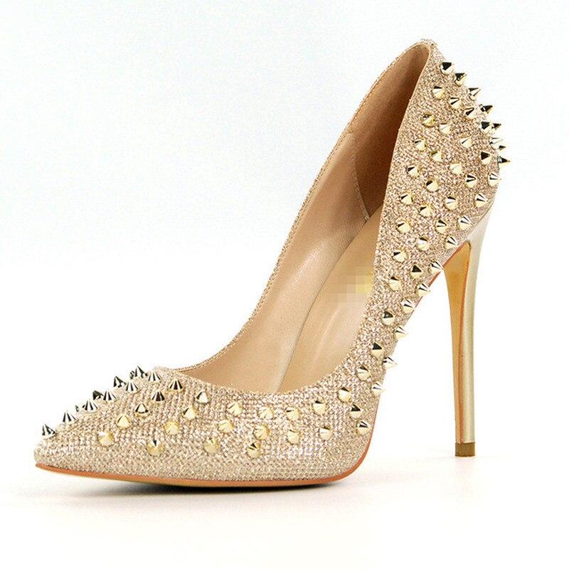Salu Stiletto Femme Mariée Plus Parti Hauts De À Partie Pointu Femmes Mariage La Taille Or Sexy Bout Pompes Talons pourpre blanc Chaussures PkiwXZOuT