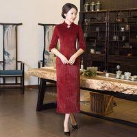 Yenilik Moda Kış Kadınlar Uzun Cheongsam Üst Satış Çin Kadın Qipao Elbise Vestidos Boyut Sml XL XXL XXXL 415965
