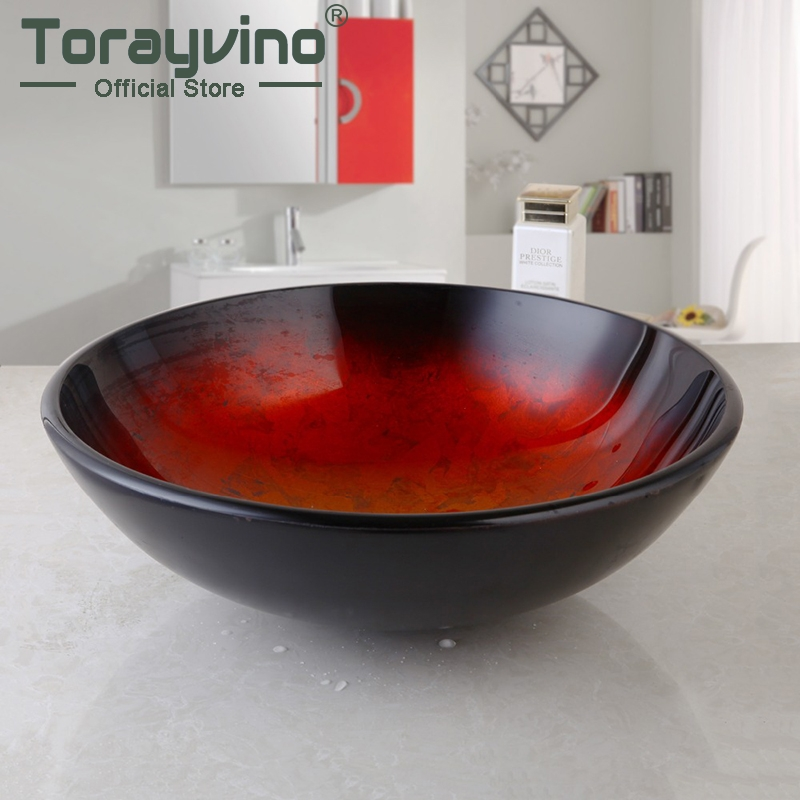 Fashion Style Round Hand-painted Artistic Victory Vessel Wash Basin Tempered Glass Sink Bathroom Basin a141 pc0101 outside nozzle 5pcs non original trafimet air plasma cutting torch consumables