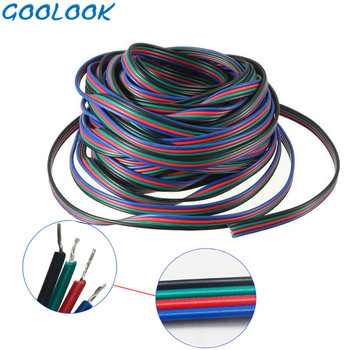 1M 5M 10M 4 Pin Wire Extension Connector Cable Cord Led Rgb Connector For Connecting For SMD 5050 2835 RGB LED Strip Light