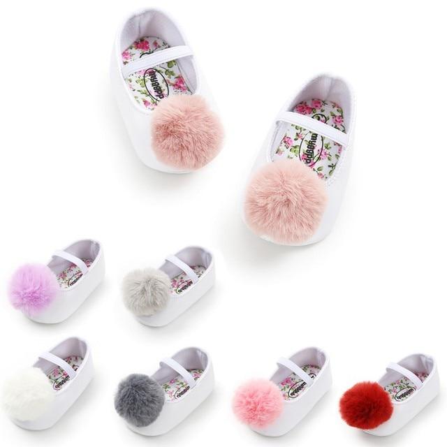 56917e4f33ef Toddler Baby Girl Soft Plush Princess Shoes Cute Pom Shoes Infant Prewalker New  Born Baby Shoes