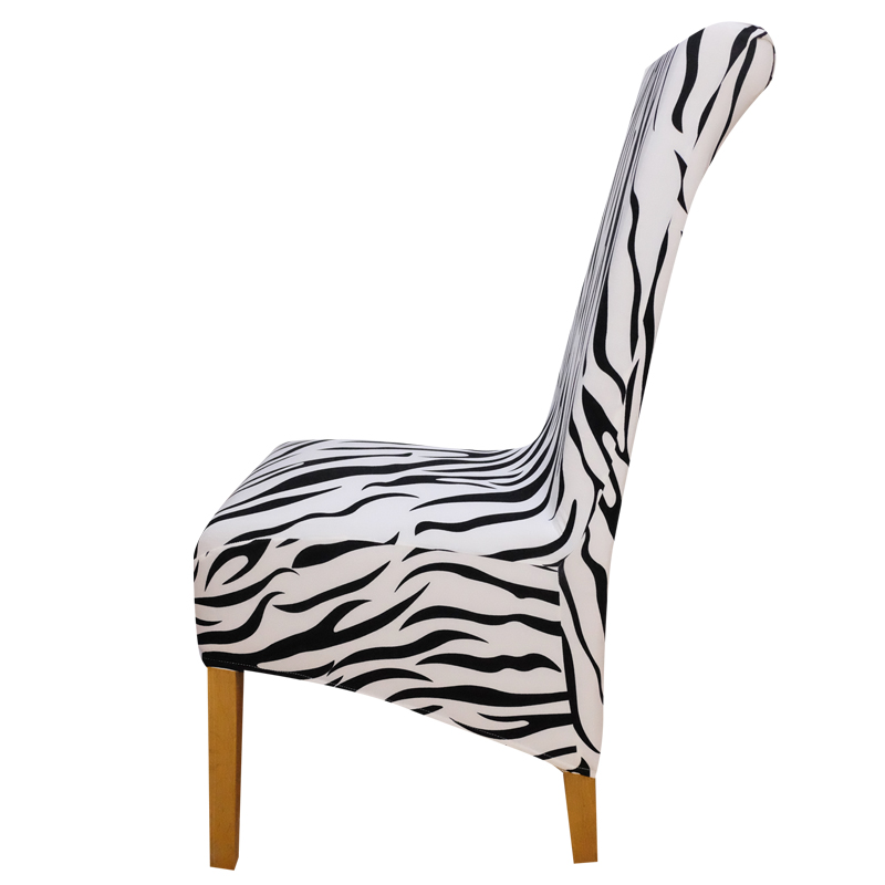 Printing animals zebra long back checked pattern Chair Cover seat covers Chair Covers Hotel Party Banquet housse de chaise