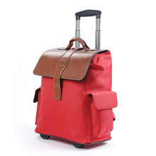 Fashion multifunctional double-shoulder back waterproof trolley bag travel luggage 20 chromophous,high quality oxford fabric bag