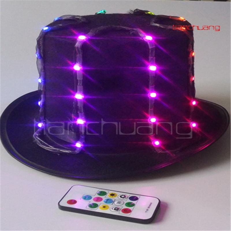 LED Full Cap Street Hip-hop Shows Lightning Hat Club Dancing Punk Rock Rivet Cap