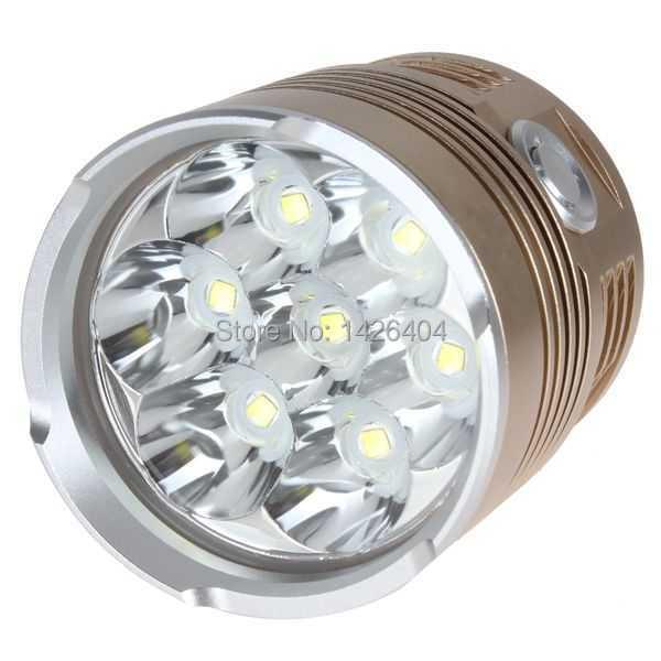 10000 Lumens Super Bright LED Flashlight Torch Aluminum Waterproof 7 x XML T6 LED Flash Light 10000 lumens super bright led flashlight torch aluminum waterproof 7 x cree xml t6 led flash light
