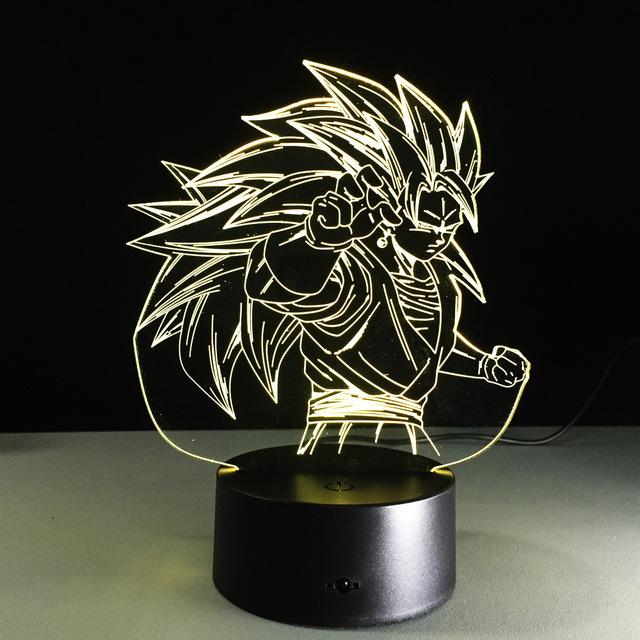 Dragon Ball- Goku Super Saiyan 3  3D Table Lamp