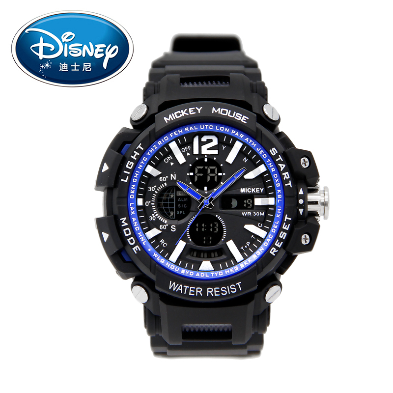 Disney Kids Watches Sports Swim Fashion Cool Digital Wristwatches Big Dial Calendar Boys watch for children waterproof Clock diray dr 306g children digital watch