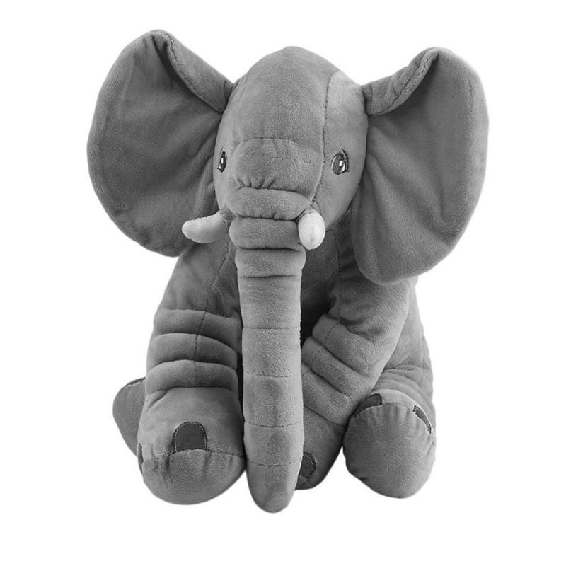 Kids Soft Plush Elephant Toy Infant Sleeping Back Cushion Baby Stuffed Doll Appease Toys Sleep Pillow Playmate Children Gift new style cute cotton cloth children s pillow hippos elephant plush toys pillow soft cushion birthday gift cushion