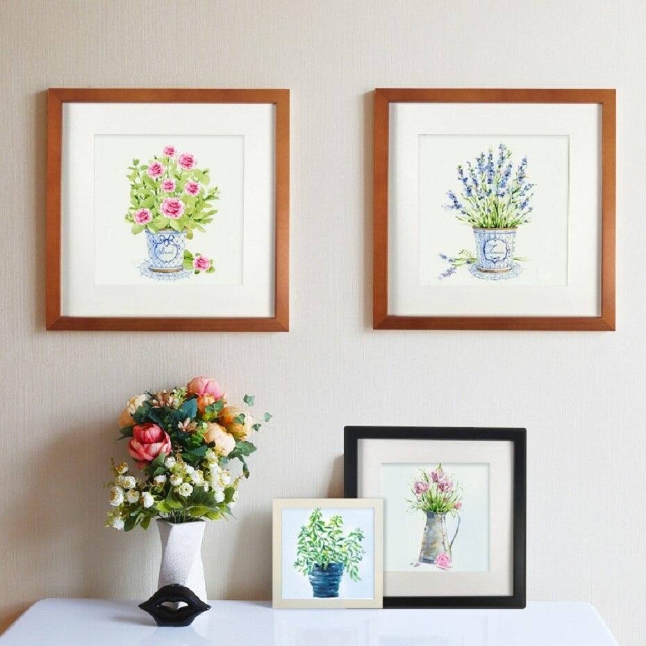 Цветная квадратная деревянная рамка, фоторамка, Настенный декор для фотографии стола, подвесная настенная художественная рамка, подарки на...