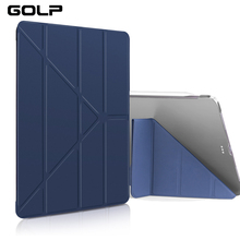 Smart Case For iPad Pro 12 inch 2018 Cover, GOLP Magnetic PU Leather + Hard PC Back Flip cover for iPad Pro 12.9 2018 case surehin nice smart leather case for apple ipad pro 12 9 cover case sleeve fit 1 2g 2015 2017 year thin magnetic transparent back
