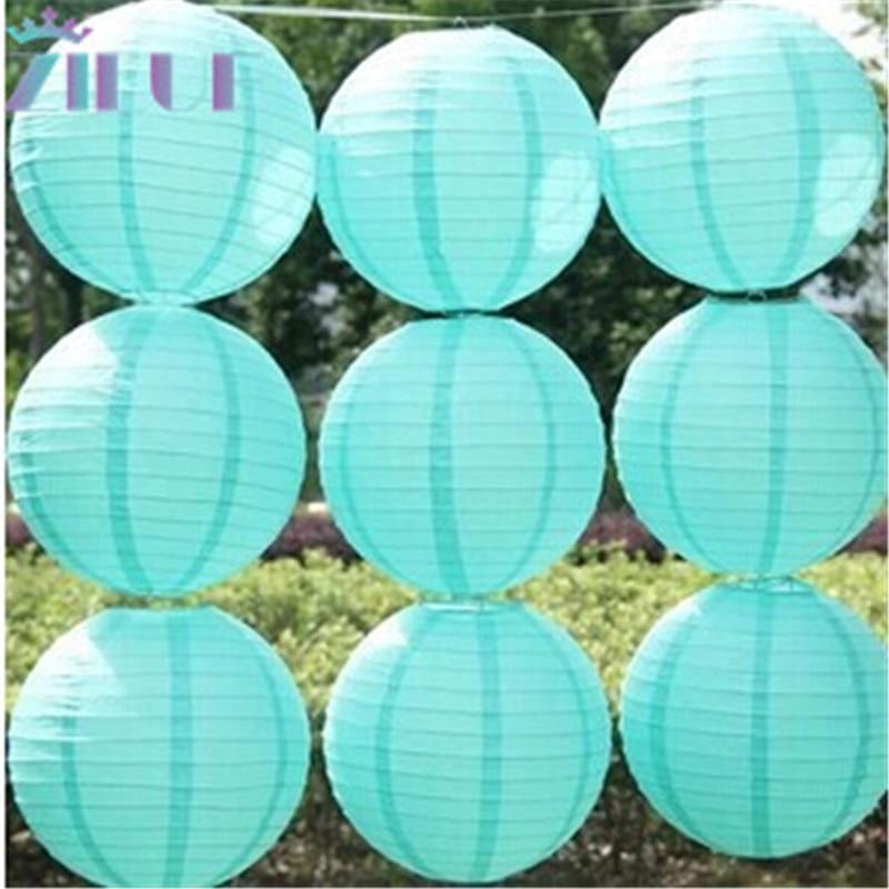 Free shipping 10pcs/lot 12'(30cm) Tiffany blue Chinese paper lantern home decoration wedding decoration wedding suppliers