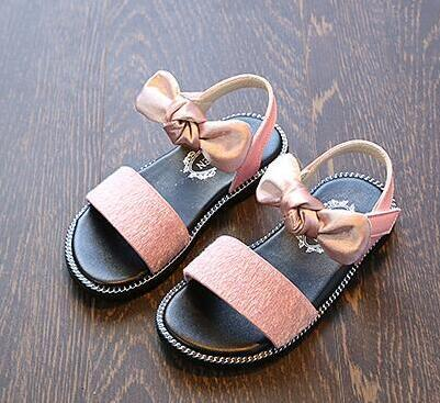 a126769e6 2019 crianças de Moda da Menina Sandálias Sandálias bonito arco Sapatos  Princesa Criança Do Sexo Feminino Recorte Gladiador Sandálias sapatos de  bebê verão ...