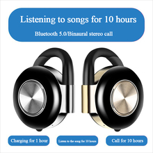 Bluetooth Headset 5.0 Wireless Binaural Stereo Sports Hanging Ear Stereo Headset 10 Hour Playtime with Built-in HD Mic Charging цена