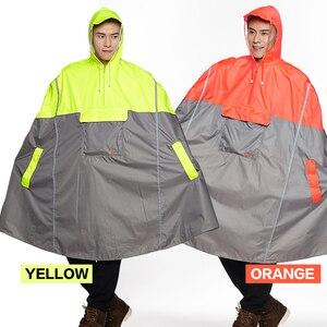 Image 5 - Impermeable Raincoat Women/Men Outdoor Rain Poncho Backpack Reflective Design Cycling Climbing Hiking Travel Rain Cover