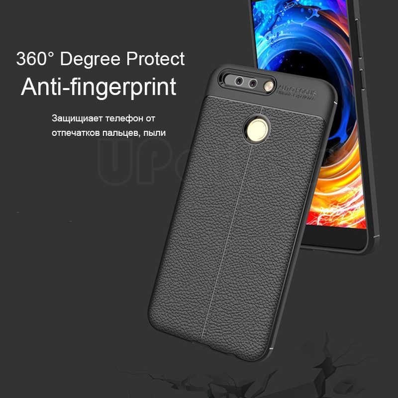 UPaitou de lujo TPU para Huawei P9 EVA-L09 EVA-L19 EVA-L29 textura de cuero cubierta trasera de silicona para Huawei P9 Ultra suave caso