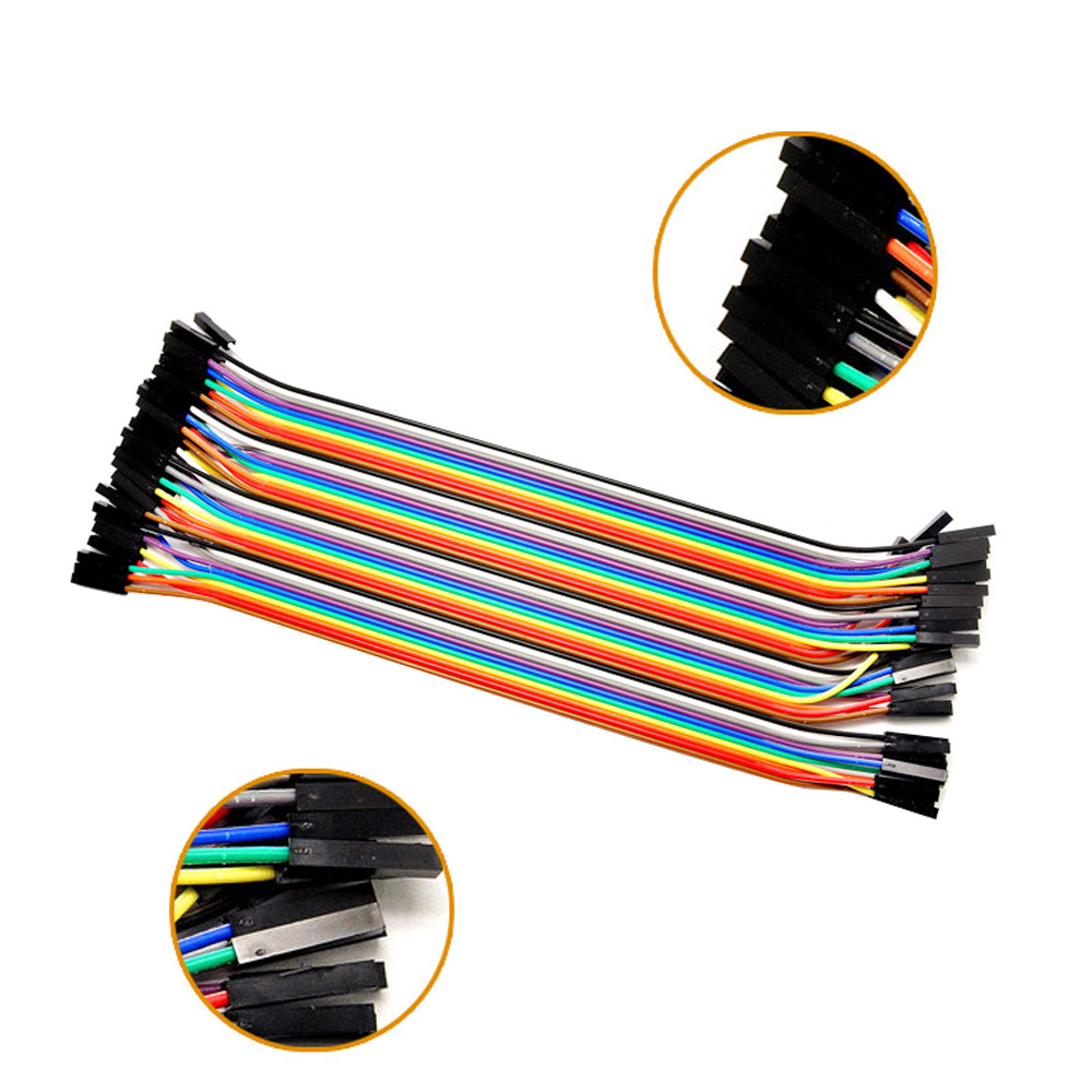 Elisona 2 X 40 PCS Female To Female Breadboard Bread Board Jumper Wires Dupont Cables For Raspberry Pi 2 3 Banana Pi Accessories