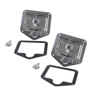 Folding T Handle Lock Stainless Steel Flush Mount Tool Box Lock Trailer Truck Paddle Latch Lightweight Vehicle Accessories