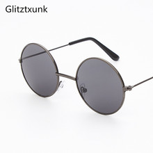 Glitztxunk Black Round Vintage Children Sunglasses Girls Boy