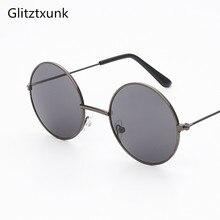 Glitztxunk Black Round Vintage Children Sunglasses Girls Boys