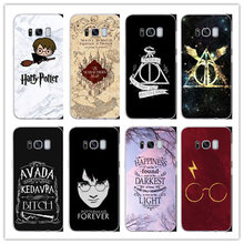 Harry Potter Hogwarts Pattern Design Hard phone Matte plastic Case For Samsung Galaxy S7 S8 S9 PLUS NOTE 5 9 8 Back Fundas Coque(China)