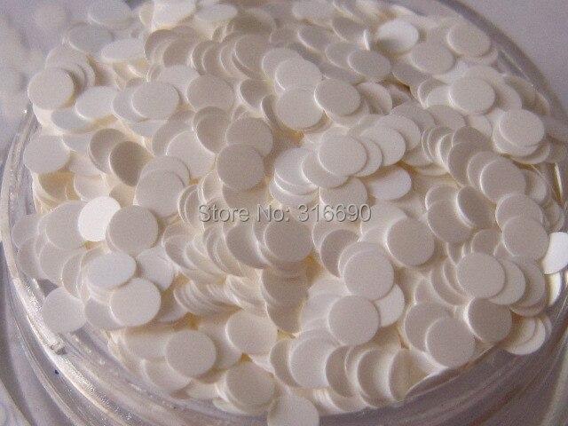 Schönheit & Gesundheit Intellektuell 2mm Weiße Runde Punkte Glitter/nail Art Craft