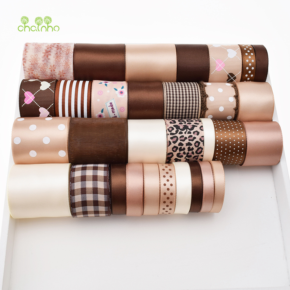 High quality 31Design Mix Brown Ribbon Set For Diy Handmade Gift Craft Packing Hair Accessories Wedding Materials Package 31Yard