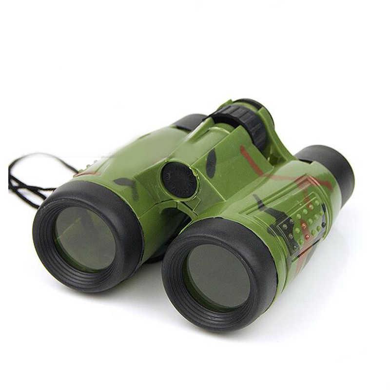 1 Pc Pieghevole Camouflage Zoom Binocular Telescope Modello di Plastica Giocattolo Per Bambini Attrezzature Utilizzate All'aperto Giochi Divertenti Regalo Di Compleanno Nuovo