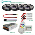 DC12V RGB LED Strip SMD 5050 60led/m Led light Waterproof  IP65 tape + RF Remote controller + Power adapter + Amplifier Kit