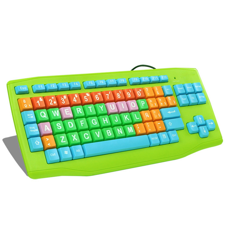 Children S Cartoon Keyboard With Big And Colorful Design Keycap Usb Cable Keyboard Cartoon Keyboard Designer Keyboardkeyboard Design Aliexpress