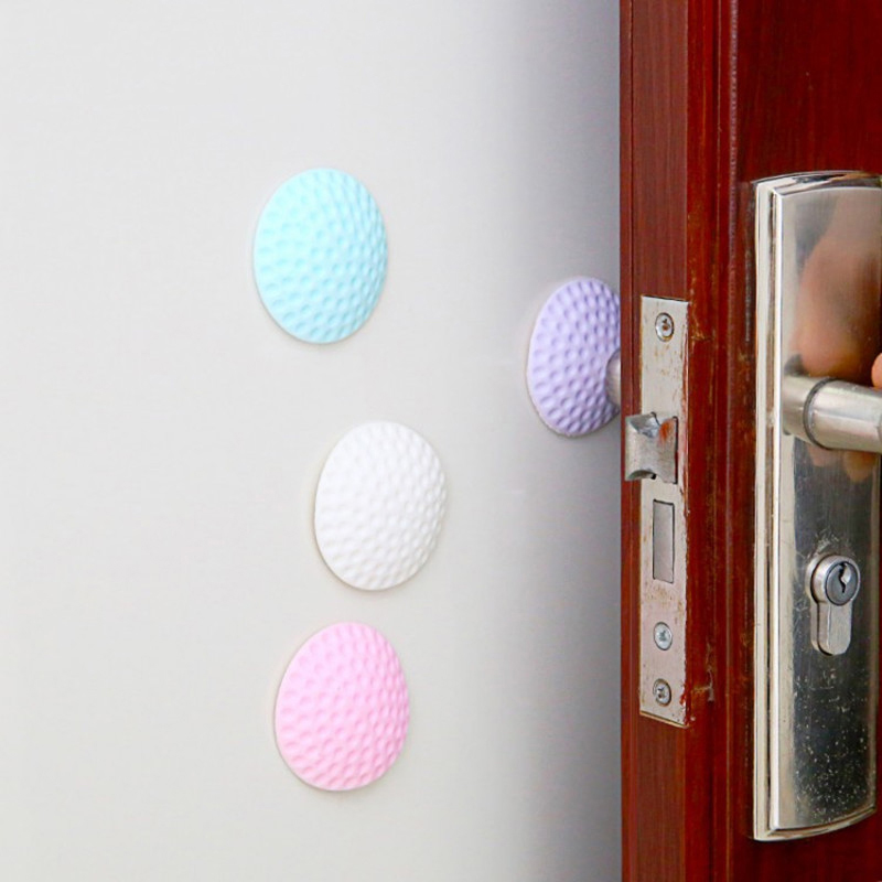 2PCS Door Handle Wall Protection Cushion Shock Silent Pad Furniture Crash Pad Collision Mat Anti Touch Pad  Furniture Accessorie