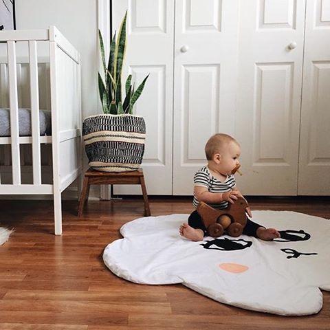 Cartoon Lächeln Wolke Babydecke Baumwolle Swaddle Me Crawling Pad - Haustextilien - Foto 2