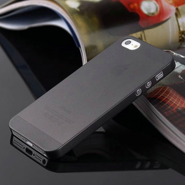 0.3mm Ultra Thin Matte Mobile Phone Bag Case for iPhone 5 5S SE 2020 6 6S 7 8 Plus 4 4S X XS Translucent Clear Capa Funda Coque 2