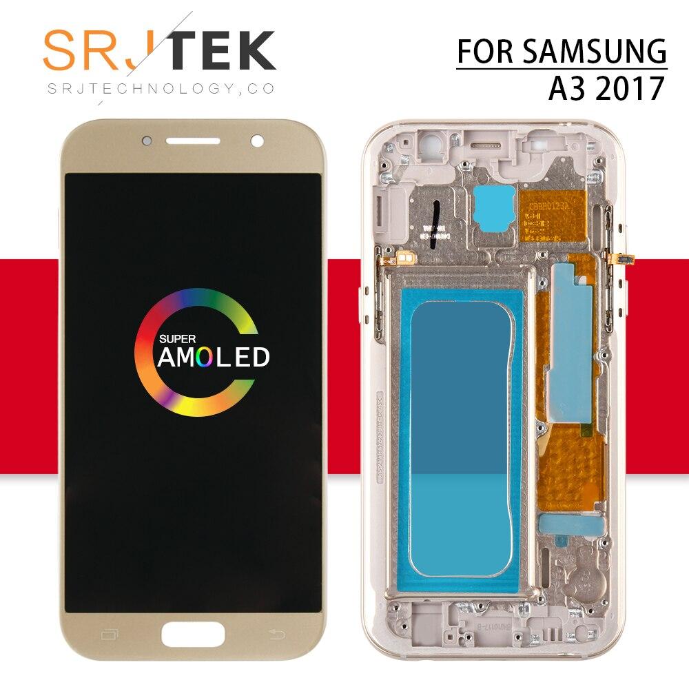 AMOLED A320F LCD pour Samsung A3 2017 LCD A3 écran tactile numériseur capteur cadre pour Galaxy A3 A320 LCD A320F affichage