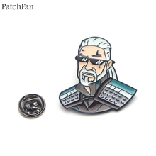 Patchfan the Witcher Wild Hunt alloy tie pins badges para shirt bag clothes cap backpack shoes brooches decorations A1858