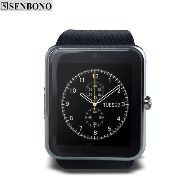 b2de0f5d41f GT08 SENBONO Inteligente Sincronização do Relógio Do Bluetooth Notificador  Apoio Whatsapp Facebook Cartão Sim Smartwatch Pedômetro