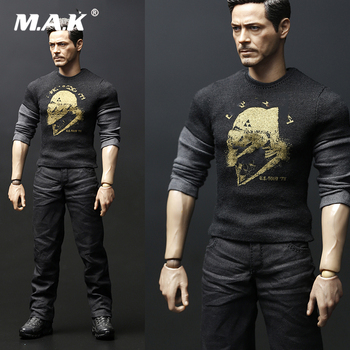 1/6 Avengers Movie Tony Casual Clothes T-shirt & Shoes & Pants Without Head Carving for 12'' HT TTM21 Body Male Action Figure