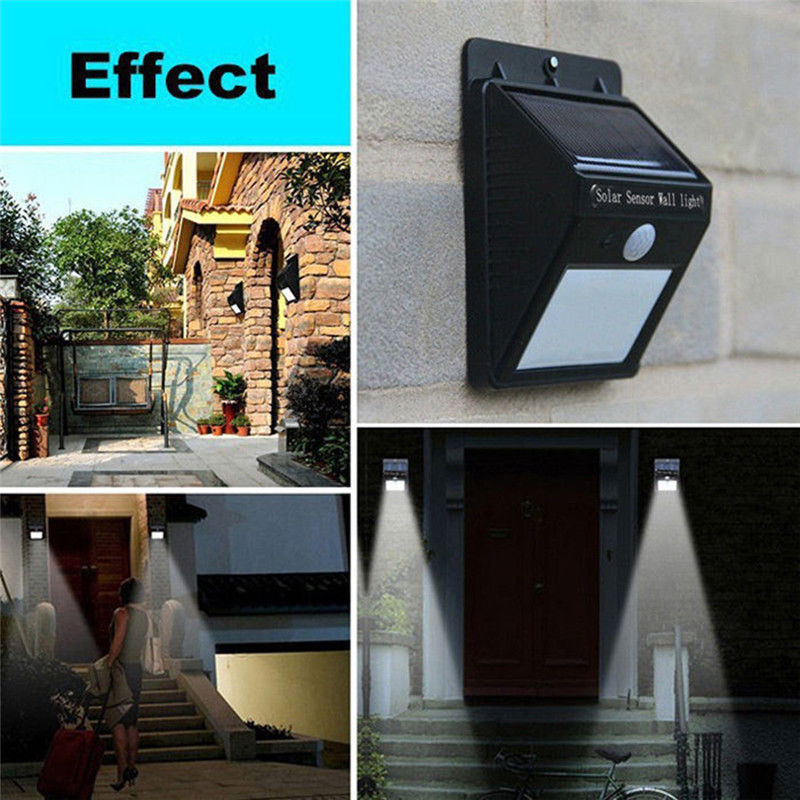 MIFXIN Solar Power Sensor Wall Light Security Motion Lamp Weatherproof Solar Garden ligh ...