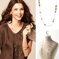European fashion jewelry ANABELLE LONG chain silver/golden Necklace party jewelry  -Free Shipping