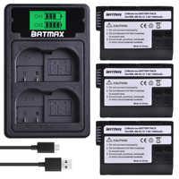 3 pièces EN-EL15 EL15A EN EL15 Batterie + LCD Chargeur Double USB Type C pour REFLEX NUMÉRIQUE Nikon D600 D610 D800 D800E D810 D7000 D7100 D7200 V1