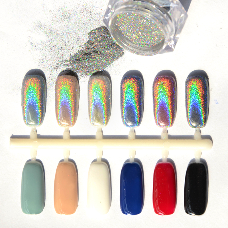 Born Pretty Holographic Laser Nail Powder Glitter Rainbow Pigment Manicure Chrome Pigments Shiny High Quality In From Beauty