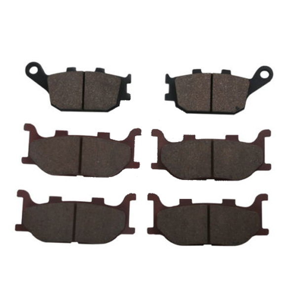 Motorcycle Semi-metal Sintered 6 pcs Disc Front & Rear Brake Pads For YAMAHA MT-03 660 2006 - 2007 BRAND NEW