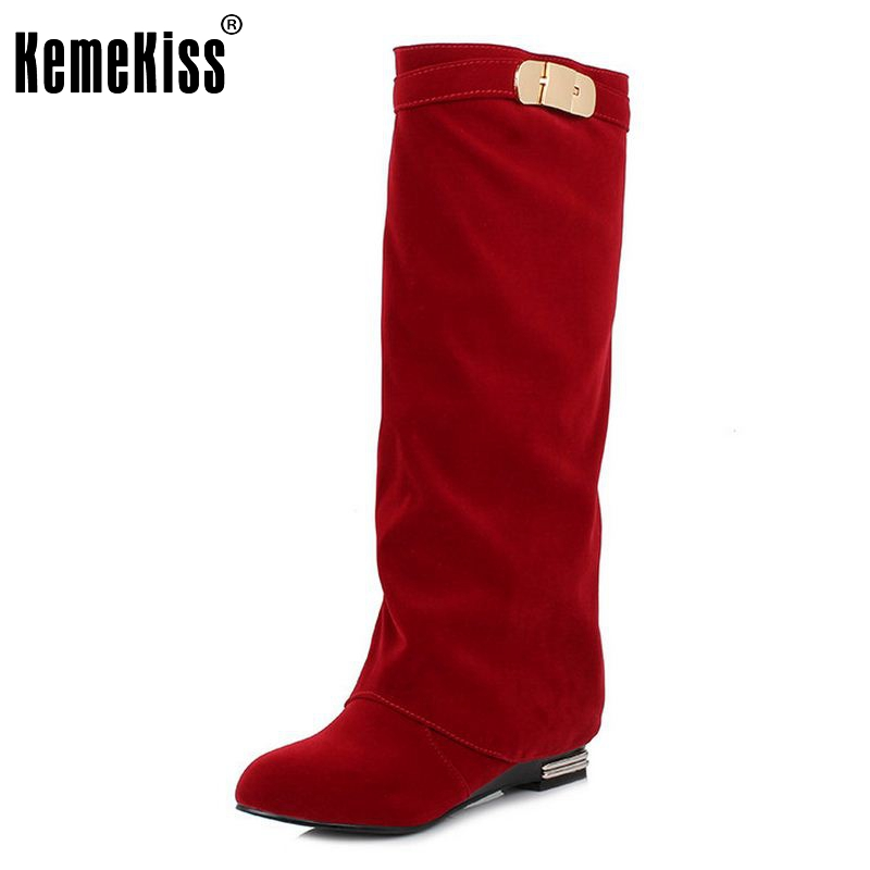 Women Flat Knee Boot Fashion Winter Snow Warm Long Boots Riding News Design Botas Ladies Dress Footwear Shoes Size 32-43